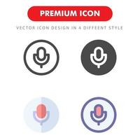 microphone icon pack isolated on white background. for your web site design, logo, app, UI. Vector graphics illustration and editable stroke. EPS 10.