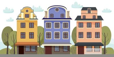 Vector collection with houses.