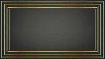 Modern contemporary art-deco style gold frame line pattern vector