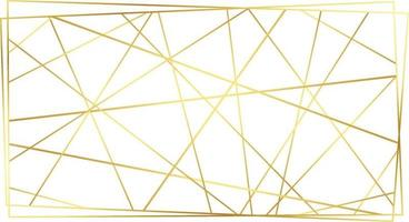 Modern contemporary art-deco style gold polygonal line pattern vector