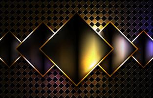 concepto de fondo negro y dorado vector