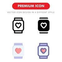 paquete de iconos de reloj inteligente aislado sobre fondo blanco. para el diseño de su sitio web, logotipo, aplicación, interfaz de usuario. Ilustración de gráficos vectoriales y trazo editable. eps 10.