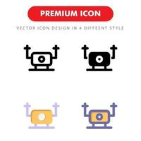 drone icon pack isolated on white background. for your web site design, logo, app, UI. Vector graphics illustration and editable stroke. EPS 10.