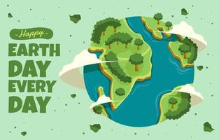 Earth Day Everyday Illustration vector