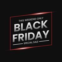 Black Friday sale banner concept vector