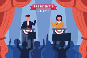 United states of america, president's day electionconcept vector
