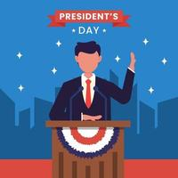 United states of america, president's day concept vector