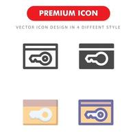 key card icon pack isolated on white background. for your web site design, logo, app, UI. Vector graphics illustration and editable stroke. EPS 10.