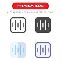 sound beat icon pack isolated on white background. for your web site design, logo, app, UI. Vector graphics illustration and editable stroke. EPS 10.