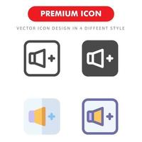 volume up icon pack isolated on white background. for your web site design, logo, app, UI. Vector graphics illustration and editable stroke. EPS 10.
