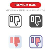 dislike icon pack isolated on white background. for your web site design, logo, app, UI. Vector graphics illustration and editable stroke. EPS 10.