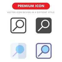 search icon pack isolated on white background. for your web site design, logo, app, UI. Vector graphics illustration and editable stroke. EPS 10.
