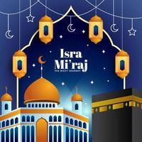 Isra Miraj with Element Islamic vector