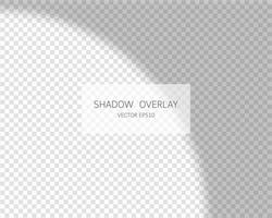 Shadow overlay effect. Natural shadows from window isolated. vector