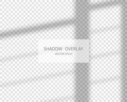 Shadow overlay effect. Natural shadows from window isolated vector