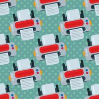 printer seamless pattern illustration vector
