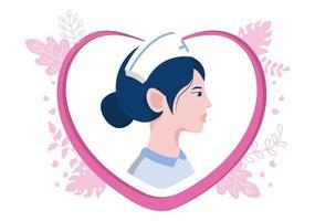 Iconos de equipos médicos y de atención médica en forma de paquete de ilustración de corazón de acción de gracias a todos los asistentes médicos por luchar contra el coronavirus y salvar muchas vidas vector