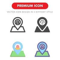 paquete de iconos de ubicación aislado sobre fondo blanco. para el diseño de su sitio web, logotipo, aplicación, interfaz de usuario. Ilustración de gráficos vectoriales y trazo editable. eps 10.