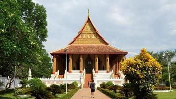timelapse no templo haw phra kaew no laos video