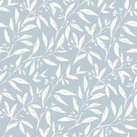 Gentle flowers seamless pattern vector