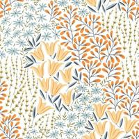 Seamless Pattern with Wild Flowers vector