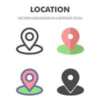 icono de ubicación. para el diseño de su sitio web, logotipo, aplicación, interfaz de usuario. Ilustración de gráficos vectoriales y trazo editable. eps 10. vector
