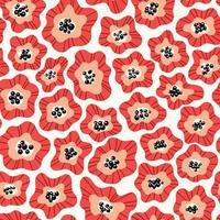 patrón de forma de flor abstracta vector