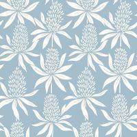 patrón sin costuras con flores decorativas vector