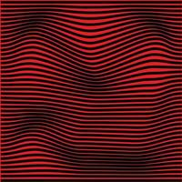 line wave abstract red vector