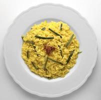 Risotto with saffron and zucchini photo