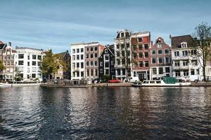 Channel in Amsterdam, Netherlands photo