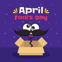 Hand drawn april fool's day vector