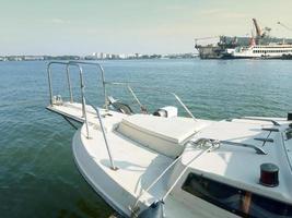 Thailand, Dec 2020--A marina at the estuary of the Chao Phraya River, Thailand photo