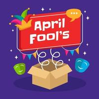 Funny April Fool's day vector