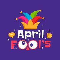 Funny April Fool's day hat vector