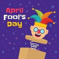 Funny April Fool's day clown vector
