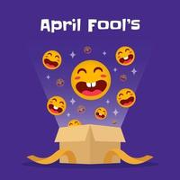 Funny April Fool's day box vector