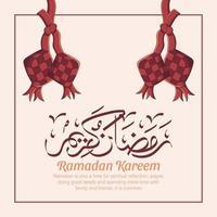 Hand drawn illustration of Ramadan Kareem Iftar party celebration. Islamic Holy Month 1442 H. vector