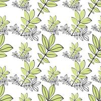 Abstract modern, floral, minimal and organic pattern design vector