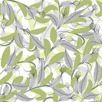 Modern trendy abstract retro style floral seamless pattern design vector