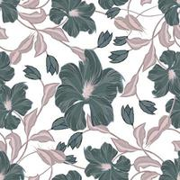 Modern abstract, floral, organic and repeat pattern design vector