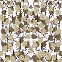 Modern abstract organic floral repeat pattern design vector