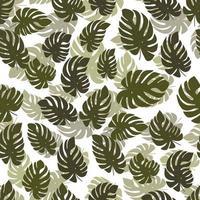 Modern minimal abstract floral organic pattern design vector
