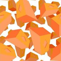 3d perspective repeat object pattern design vector