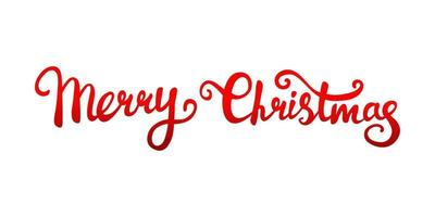 Vector text of Christmas greetings written by hand, red gradient on a white background.