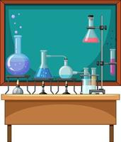 Chemistry element on the table vector