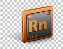 elemento químico radón vector