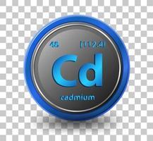 elemento químico cadmio vector