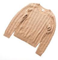 Sweaters isolated on white background photo