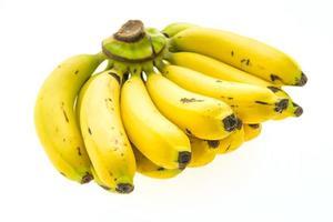 banano sobre fondo blanco foto